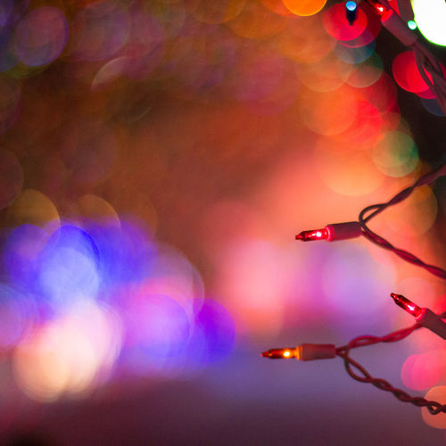 Color Explosion Christmas Archway Bokeh Cities At Night
