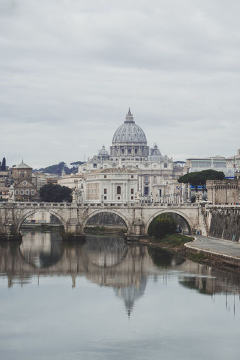 Cathedral River View San Pietro In Vaticano Architecture Building Exterior Built Structure City Day Dome No People Outdoors Reflection River Sky Travel Destinations Water