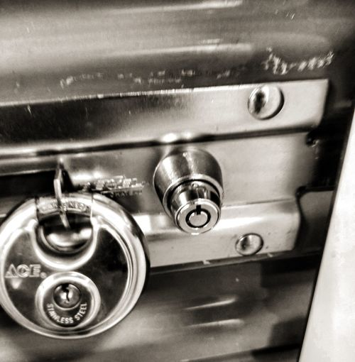Metal No People Indoors  Close-up Locked Doors Storage Space Storage Unit
