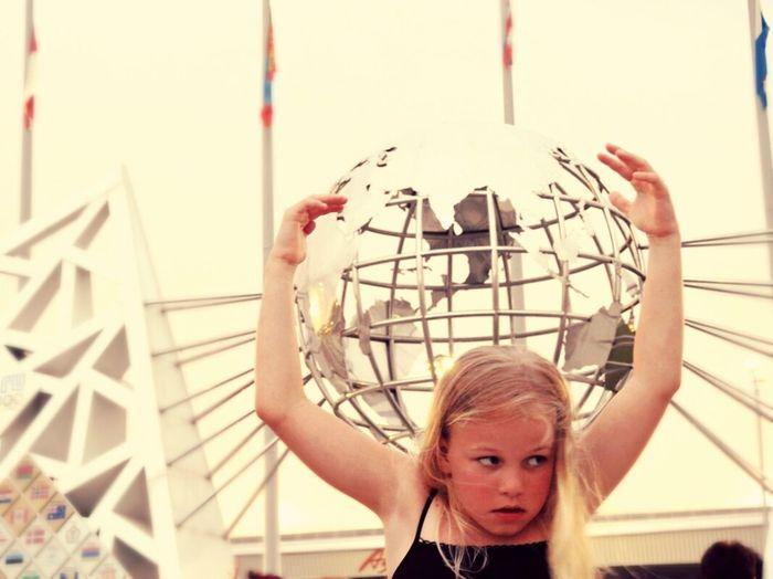 Atlant Daughter Sochi Adler Olimpic Park Russia Summertime Walking Around