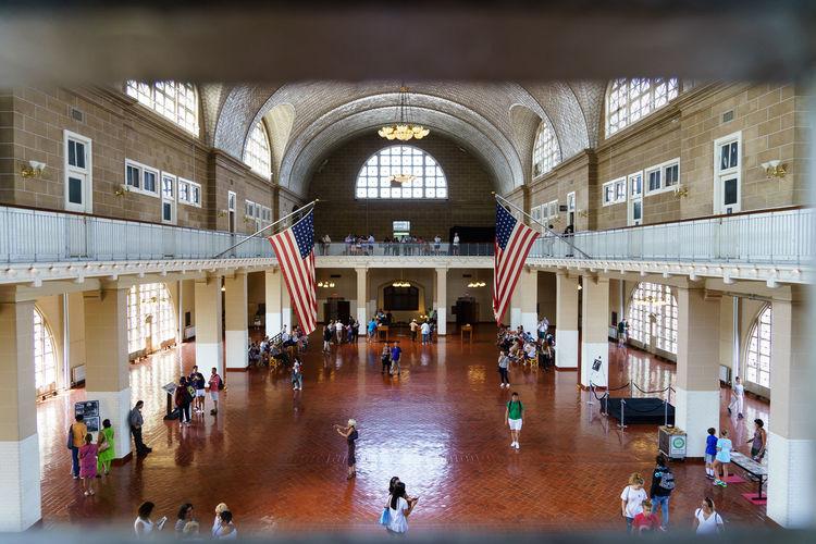 Ellis Island  Immigration New Jersey New York New York City Sightseeing Statue Of Liberty USA America Famous Place History International Landmark Registration Registration Hall