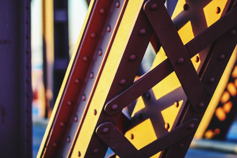 Iron Bridge Metal Iron Bridge Bridge EyeEm Selects Close-up Metal Focus On Foreground No People Pattern Architecture Built Structure Detail
