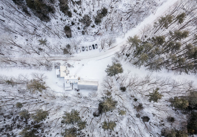 #snow #Winter #drone #House #home White Color Beauty In Nature Cold Temperature Winter Nature Covering High Angle View #Wood #forest #vermont