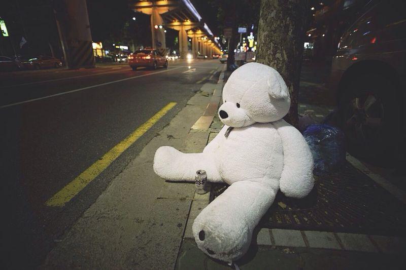 버려진 곰인형. 짠하다...가 영어로 뭐지? Wasted Bear Doll