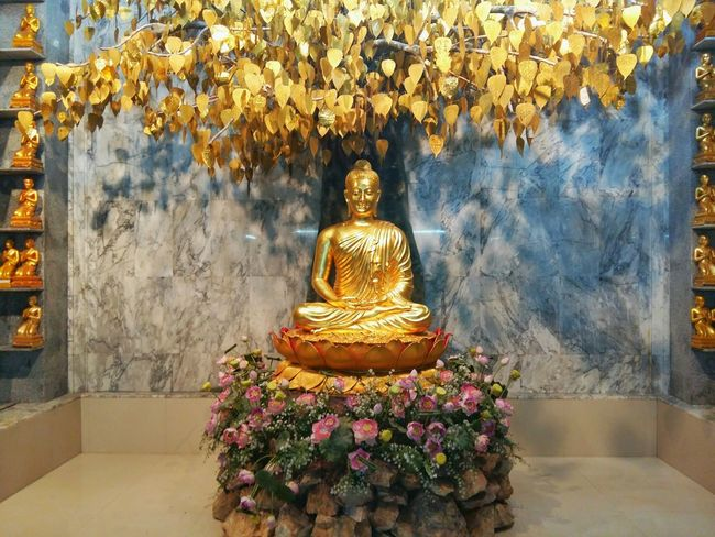 Gloden buddha statue in Hat Yai, Songkhla, Thailand . Religion Gold Colored Yellow Statue Buddha Place Of Worship Image Of Bhuddha Image Of Buddha Sculpture Buddhism BUDDHISM IS LOVE Buddha Statue Gold Architecture Buddhastatue Thailand