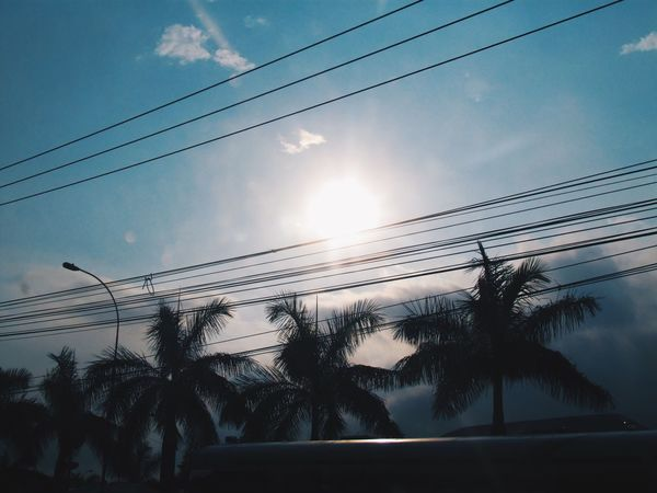 Tropical Style Tropical Climate Tropical Life Latinstreetphoto Blue Sky And Clouds Bluesky ElSalvador  Elsalvador Travel Silhouette Sky No People Cloud - Sky Outdoors Day Beauty In Nature
