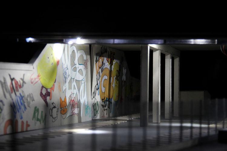 Architecture Nantes Architecture Model Close-up Ensa Nantes Ensan Graffiti Illuminated Maquette Projet
