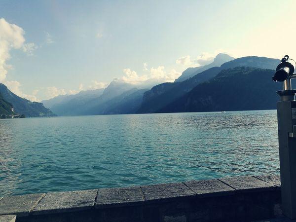 Mountain Water Lake Mountain Range Majestic Landschaftsfotografie Hanging Out Relaxing Seeufer See Bluesky
