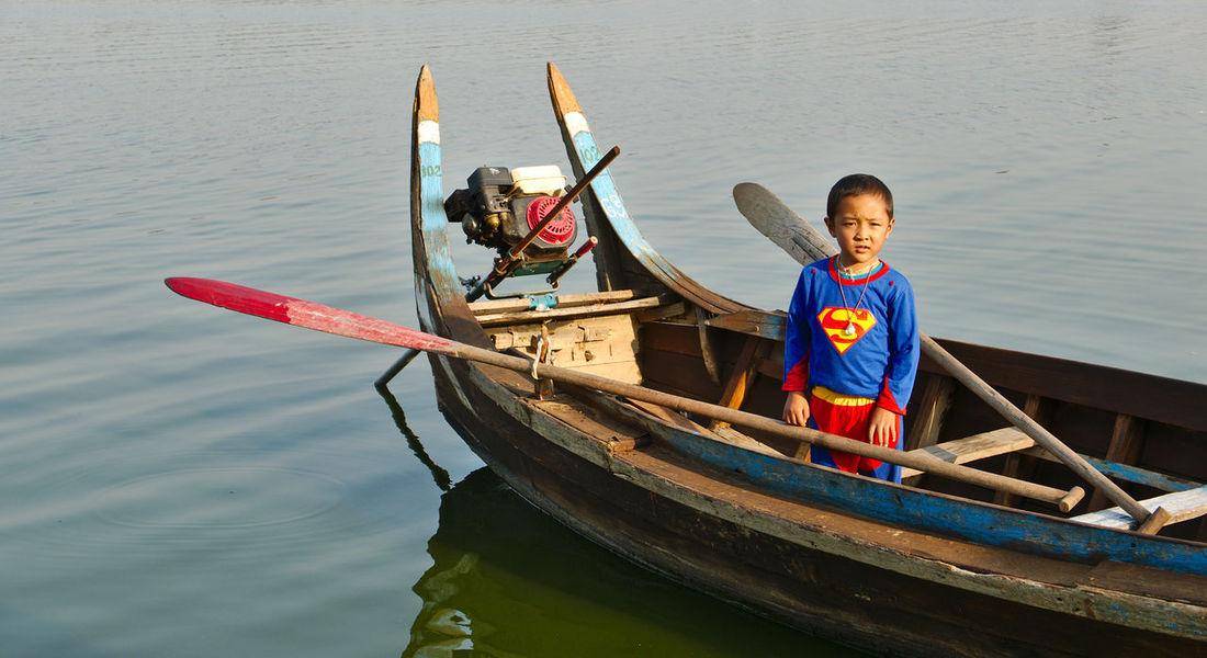 Mandalay Region Ubeinbridge Water People Myanmar View Myanmarphotos Tranquility Travel Outdoors Boat Myanmar