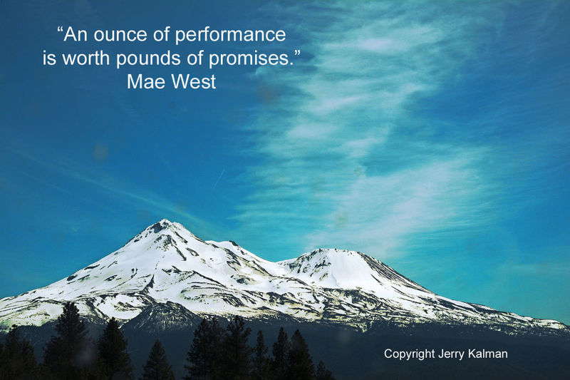 It's fitting to use a picture of #MountShasta near the #California #Oregon border as a backdrop for a #quote by #MaeWest on her birthday. If this #quotograph speaks to you, please #repost it. California Mae West Quotes Mount Shasta Mountain Quotograph Snow