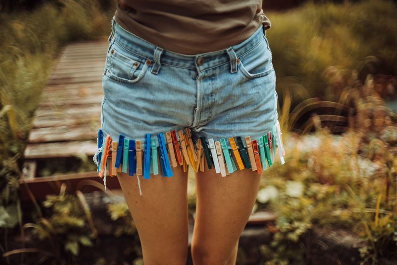 New Hotpants ❤ Hotpants Wäscheklammern Levis Jeans Denim Vintage Style Retro