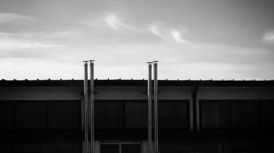Invisible cities Abstract Architecture Black And White Building Cloud - Sky Horizontal Compisition Monochrome Mood Light No People Panorama View Urban