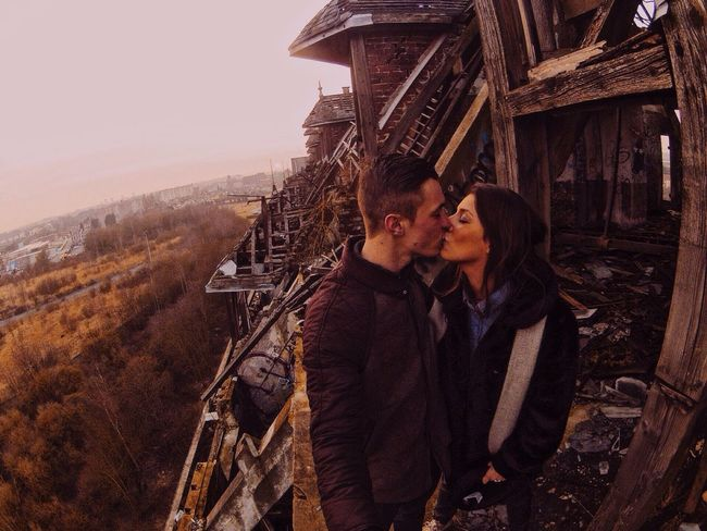 Love Without Boundaries Back to my teenager period when I've took my girlfriend to one of my favorite urbex place, and we went on the rooftop to contemplate the landscape ! Lille France Gopro Urbex Love Exploring Vscocam VSCO Urbexphotography GoPro Hero3+ From The Rooftop Enjoying Life Check This Out Lovelovelove