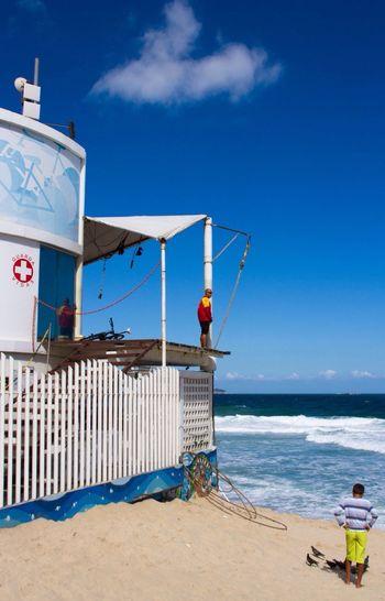 Copacabana Posto Beach Beach Life Rio De Janeiro Blue Sky Beach Photography Beachphotography Lifeguard