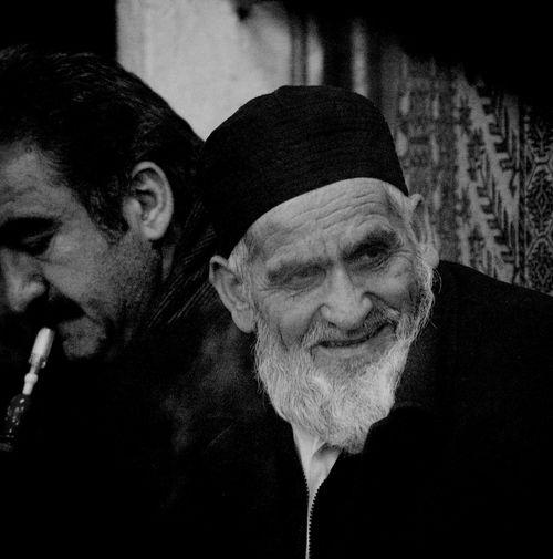 Oldman while Pipe Smoking at Beyazıt . Portrait