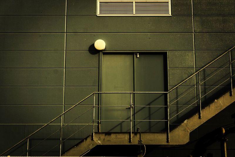Closed Door By Empty Steps