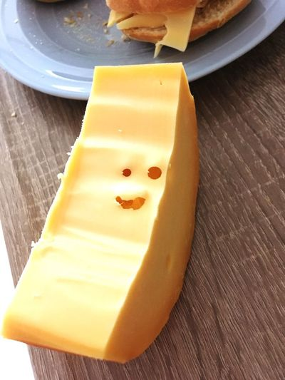 A happy cheese
