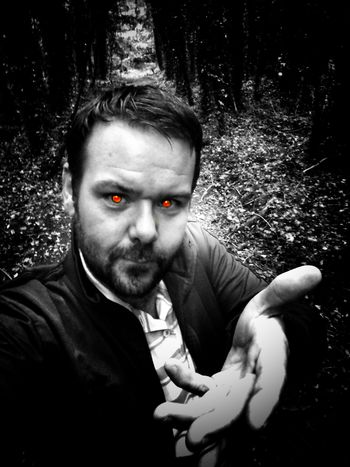 TAKE MY HAND😈DONT BE SCARED😈 Looking At Camera Portrait One Man Only Adults Only Taking Photos Check This Out Outdoors In The Forest Light And Shadow Trees And Leaves Lets Walk The Places I've Been Eyeem2017 Front View Nature Ireland🍀 Enjoying Life