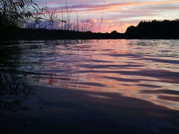 Cloud - Sky Sky Sunset Water Beauty In Nature Lake Environment No People Landscape Freshness Horizon Over Water HuaweiP9 Beautiful Sky Beautiful Colors Nofilter Poland 💗