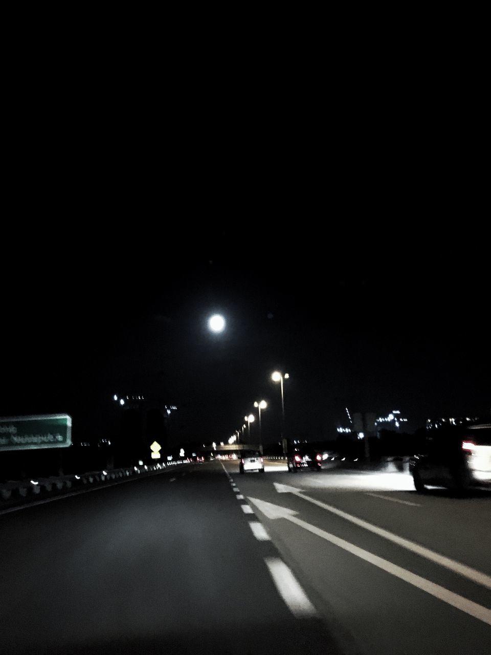 night, car, road, illuminated, transportation, street, city, no people, outdoors