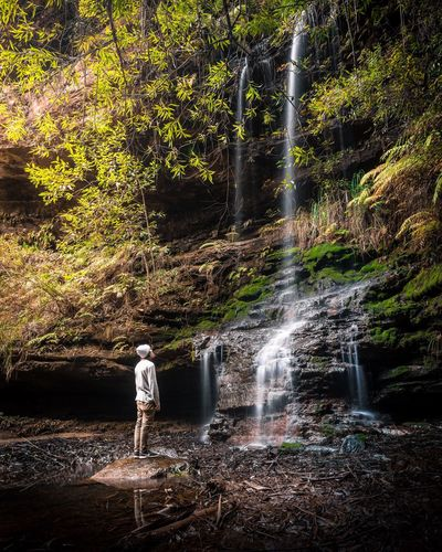 Breathing Space Let nature unwind you, embrace the feels! Waterfall One Person Standing Nature Beauty In Nature Landscape Adventure Australia Moody Water Nikon Outdoors Long Exposure Lost In The Landscape