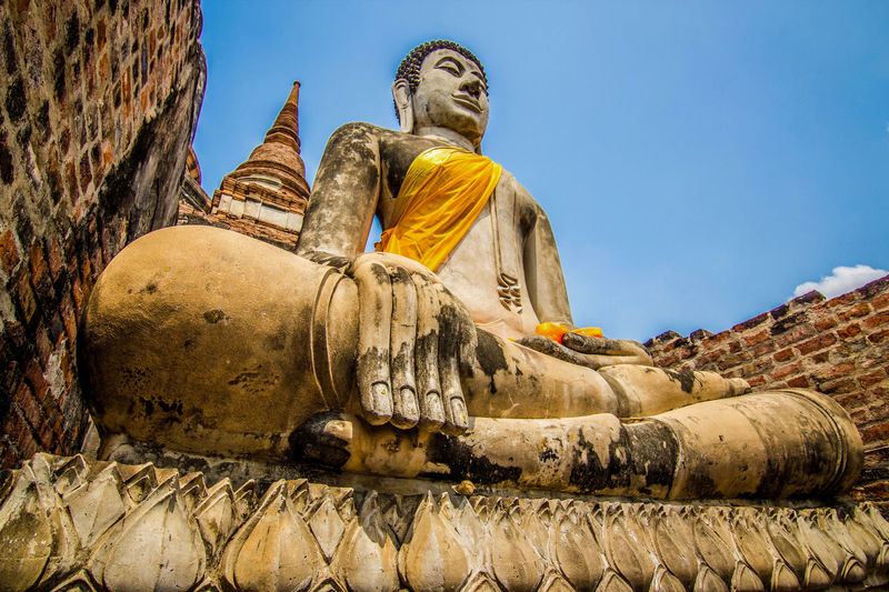 Statue Religion Travel Destinations No People Ancient Civilization Lord Buddha Sky Architecture Outdoors