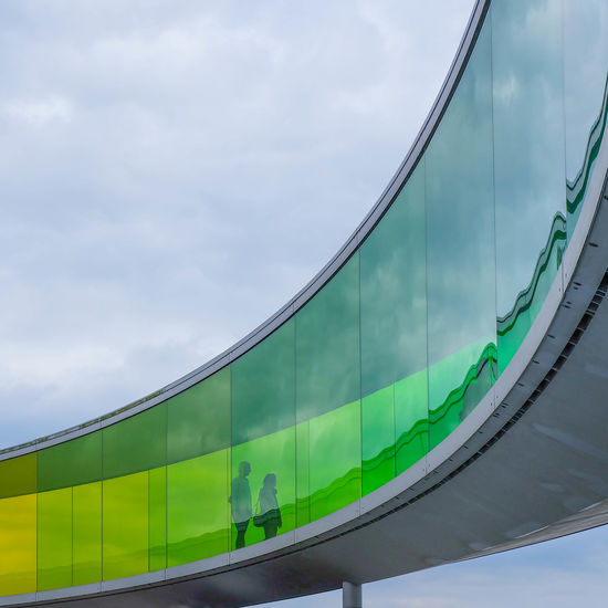 Architecture Art Colour Of Life Colours Installation Leading Lines Low Angle View Olafur Eliasson Outdoors Your Rainbow Panorama