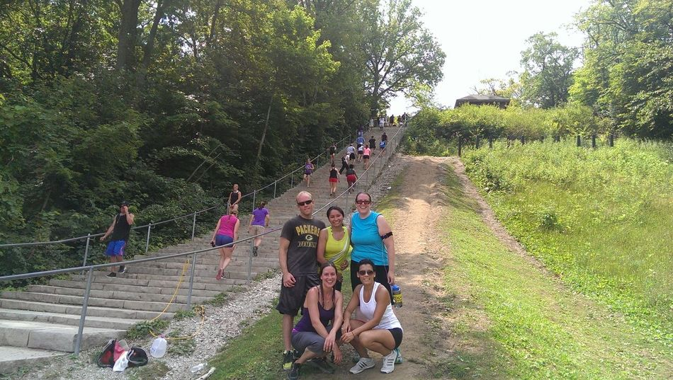 Me and some of my clients went out for some stair climbing 126 steps steep. Great training day! ? Working Out!