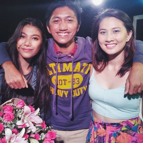 Congratulations to the whole cast and crew of I LOVE YOU BECAUSE... especially to these two beautiful ladies who gave phenomenal performances on their last show tonight, alongside @itsjonabella @supermarionsanchez @dondilorenzo and @wheredidCrisgo. Also to @jcbautista13 @xoelapaige @pawiebenitez @matryoshkaaaa @fritzesase17 and of course Ate @micaelapineda! Fabulous work everyone woooot! Vscocam Musical Offbroadway Iloveyoubecause theatre