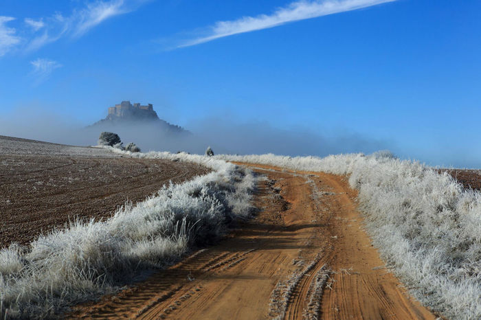 Castles Cloud Roads Snow ❄ Soria Beauty In Nature Blue Fog Nature No People Outdoors Sky Winter
