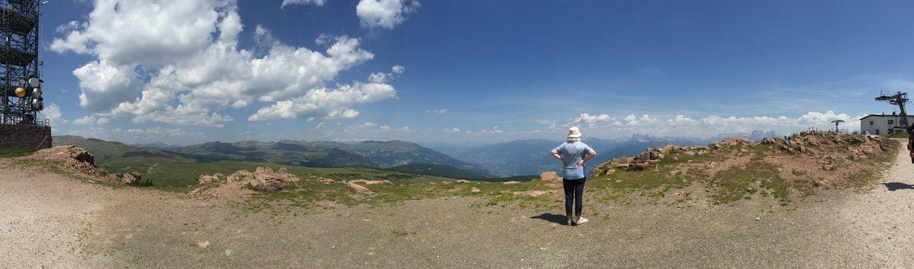 Woman and mountains. Südtirol Ritten