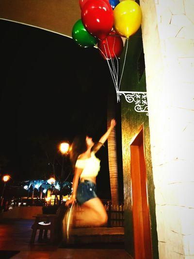 Balloon Fun First Eyeem Photo CancunMexico🌙 Jumping Shot Happyness