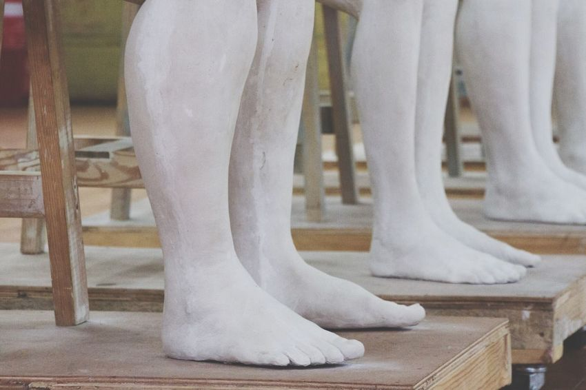 Break The Mold Low Section Indoors  Human Foot White Color Human Body Part Close-up Studio ArtWork Biennale Sydney Sculpture Clay Work Art