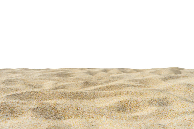 Beach sand texture idolated Di-Cut white background. Isolated On White Textured  Beach Summer Sand Pattern Yellow Brown Land Desert Sand Dune Copy Space Sky Landscape Clear Sky No People Climate Tranquility Arid Climate Nature Day Environment Scenics - Nature Tranquil Scene Beauty In Nature Outdoors