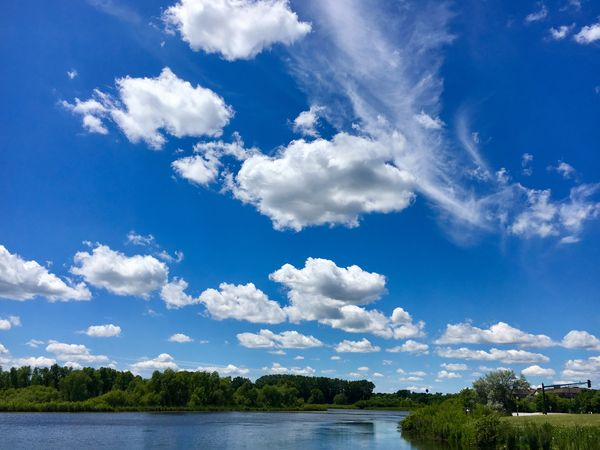 Sky Cloud - Sky Nature Blue Beauty In Nature Day Water Scenics Tranquil Scene Tranquility Outdoors No People Lake Tranquility Lake View Lakeside Beauty In Nature Nature Sunlight Purgatory Creek Park Lakeshore Waterfront Sommergefühle