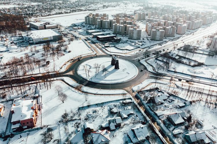 Architecture Building Exterior City Built Structure Day No People High Angle View Time Snow Cityscape Winter Cold Temperature Building Landscape