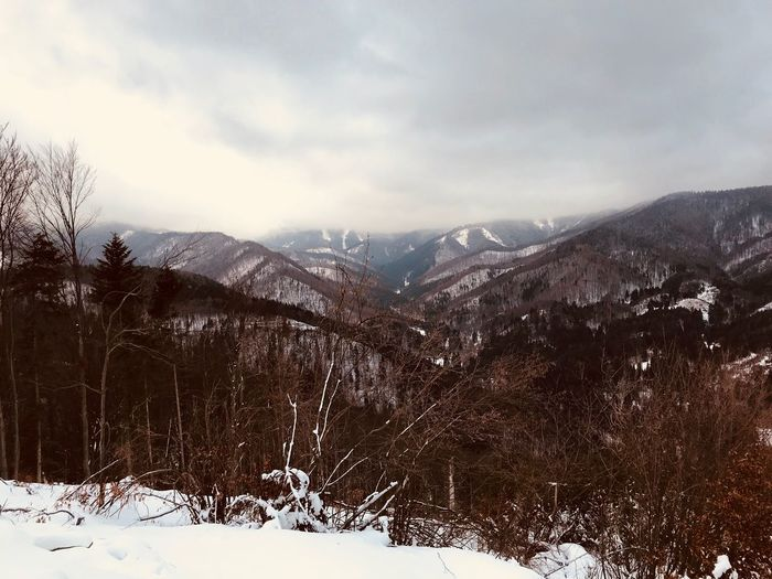 IPhoneography Snow Winter Cold Temperature Mountain Nature Landscape Beauty In Nature Scenics Sky Outdoors No People Day Mountain Range Scenery