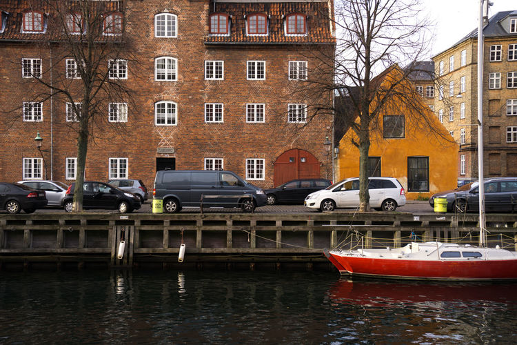 Gloomy views of beautiful copenhagen City Home Travel Architecture Boat Building Exterior Built Structure Copenhagen Day Europe No People Outdoors Port River Sky Sun Sunset