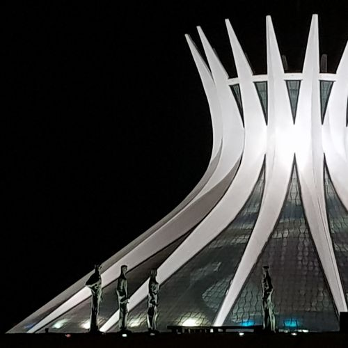 Brasília Cathedral Prophet Niemeyer Architecture The Graphic City Arts Culture And Entertainment Night Architecture Built Structure Outdoors Illuminated No People HUAWEI Photo Award: After Dark