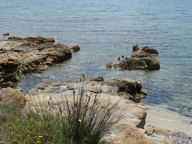 😊 Sardinia Sardegna Italy  Sardinia Sardegna Water Sea Beach Sand High Angle View Shore Sky Coast Rocky Coastline Horizon Over Water Seascape Rock Formation Rock