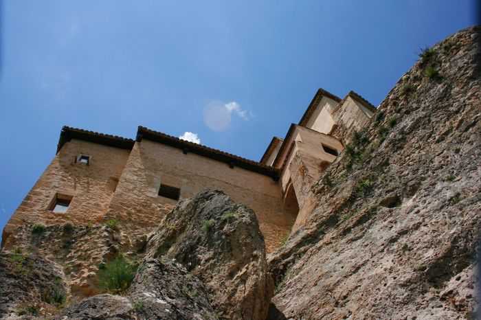 Never stoped wondering HOW and WHY people built the houses on the very edge of the rocks. Architecture Blue Building Exterior Built Structure Cuenca, Spain History Houses On Rocks Low Angle View Old Old Architecture Rock Formation Run-down Sky Stone Houses  The Past Tourist Attraction  Tourist Destination Travel Photography Traveling UNESCO World Heritage Site Showcase June