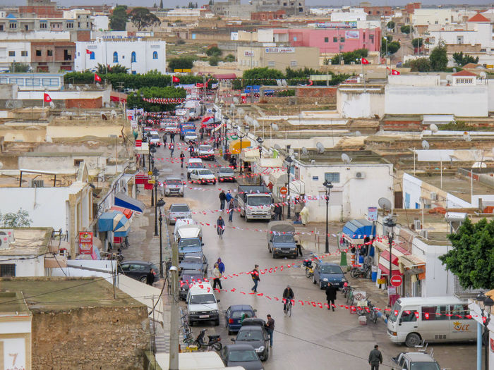 Tunisia travel holidays Architecture City Built Structure High Angle View Building Exterior Group Of People Street Transportation Real People Crowd Day Building Mode Of Transportation Road Car Motor Vehicle Land Vehicle Large Group Of People Outdoors Street Market
