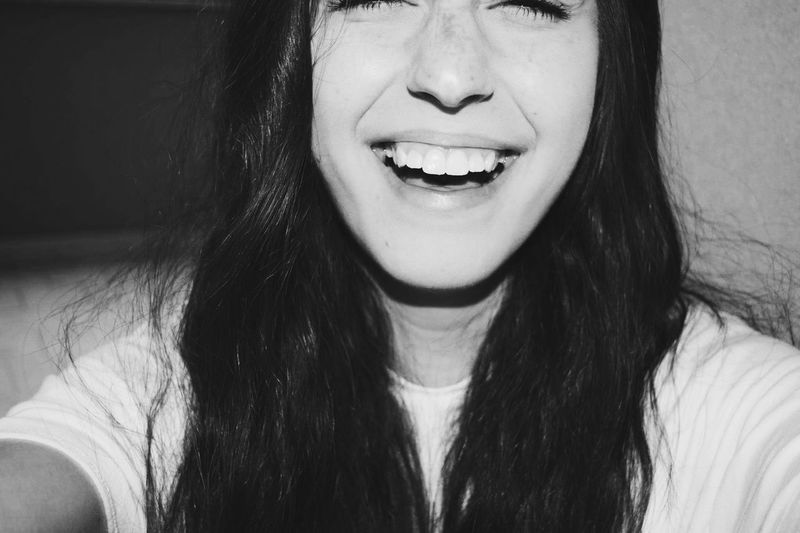Careless Smile B&W Portrait Me Happiness White Like Snow Freckles