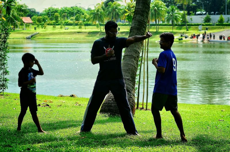 Playing Outdoors Park - Man Made Space Beautiful People Park View Riverside Photography Riverscape Riverview Martial Arts Children Dawn Collection