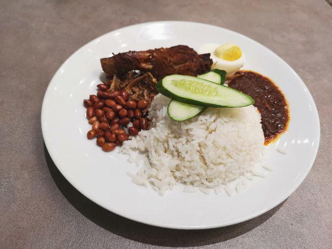 Foodporn Malaysianfood Ensem Nasilemak City Plate Drink Comfort Food Savory Food Fruit Close-up Food And Drink