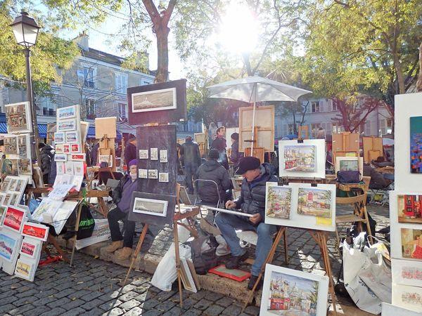 Painters at Place Du Tertre in Paris , France
