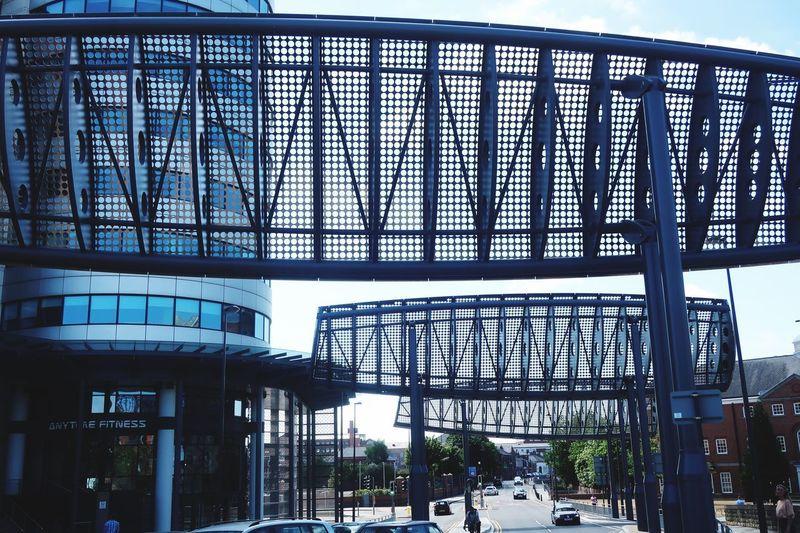 Urban Jungle Built Structure Architecture Building Exterior Metal Building Day Railing Transportation Modern Glass - Material Design