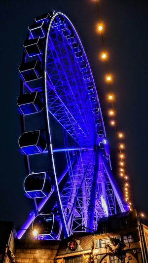 a wonderful visit :) to Düsseldorf Nice Atmosphere Niceview Night Photography Night Lights Night View Night Life Blue Illumination City Illuminated Ferris Wheel Nightlife Arts Culture And Entertainment Blue Sky Architecture Built Structure Amusement Park Ride Amusement Park Ride Big Wheel