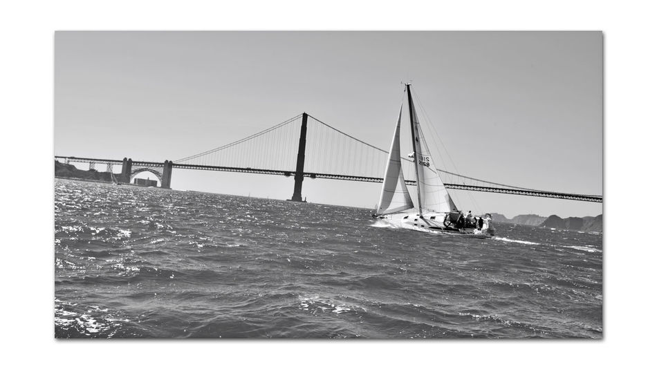 Sailing The Bay 24 San Francisco CA🇺🇸 Sailboat Golden Gate Bridge San Francisco Bay Scenic Eastern Tower Bridge Span Bridge Architecture Fort Point Fort Point Lighthouse Bridge Arch Monochrome_Photography Monochrome Yacht View From The Almas Deck Sailing Yachting Tacking Sailing The Bay People On Board Black & White Black & White Photography Black And White Black And White Collection  Landscape_Collection