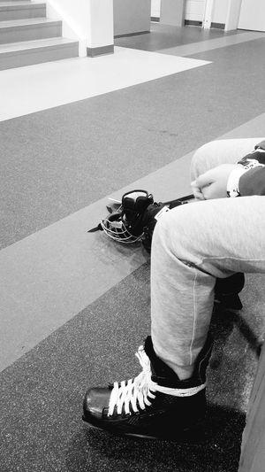 #hockeylife #hockeymom #hisbiggestfan #skates One Person Lifestyles Childhood